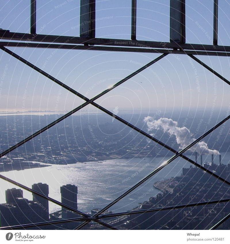 Sky Blue Cold USA Smoke Chimney New York City Brilliant Hudson River Freezing cold
