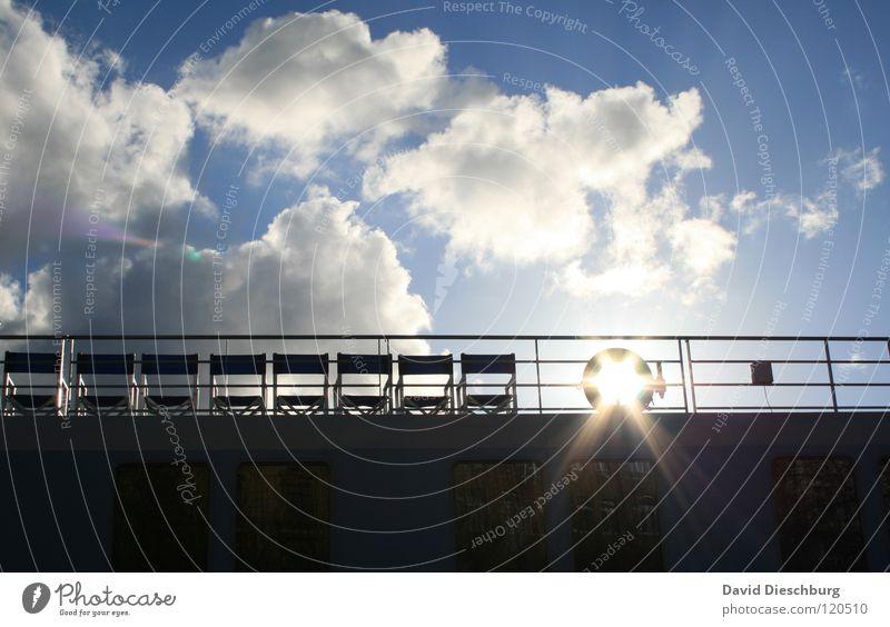 Sky Sun Ocean Blue Summer Vacation & Travel Black Clouds Window Lake Watercraft Lighting Glass Driving River Chair
