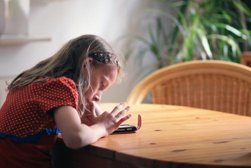 ...her first mobile phone ;) Leisure and hobbies Computer games Cellphone PDA Technology Entertainment electronics Advancement Future Telecommunications