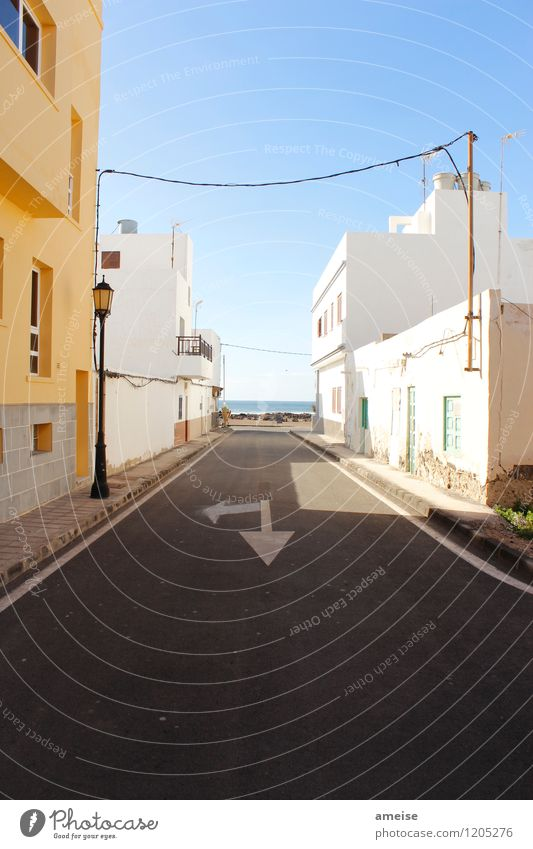 El Cotillo Calm Vacation & Travel Tourism City trip Beach Ocean Cloudless sky Horizon Summer Beautiful weather Warmth Island Fuerteventura El Cortillo
