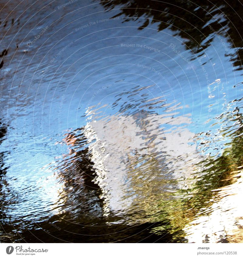 Water Sky White Blue House (Residential Structure) Black Gray Waves Art Wet Transience Fluid Obscure Puddle Unclear Painted