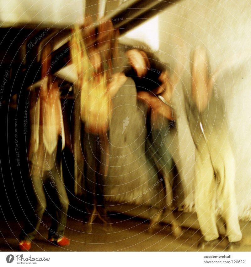 Human being Man Jump Room 4 Analog Distorted Scan Joist Upswing