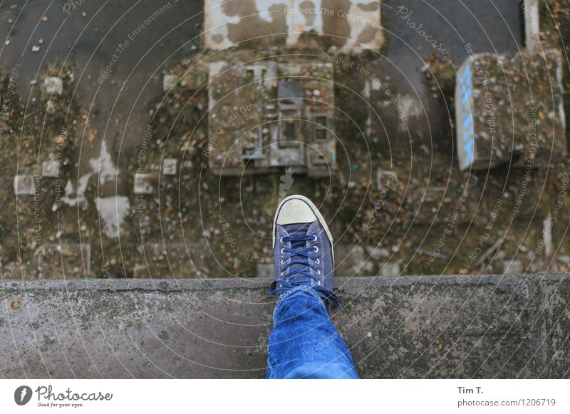 one step Feet 1 Human being Footwear Sneakers End Apocalyptic sentiment Colour photo Exterior shot Day Bird's-eye view