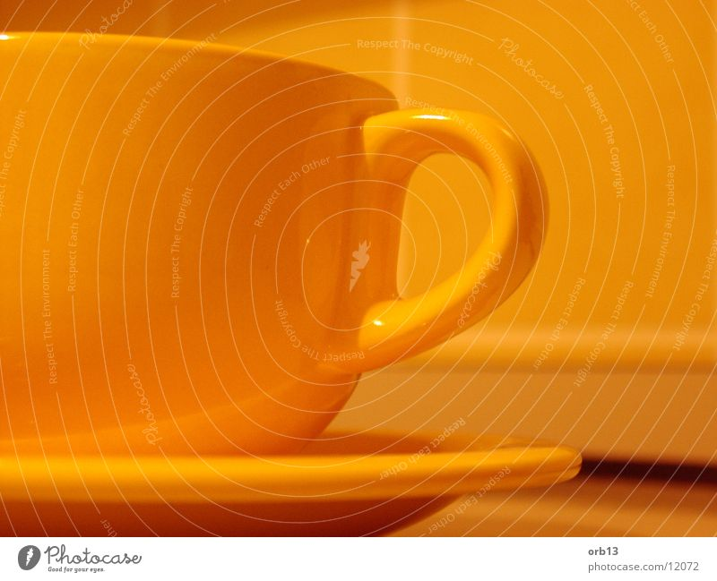 Yellow cup Cup Kitchen Beverage Detail Orange Tea Coffee