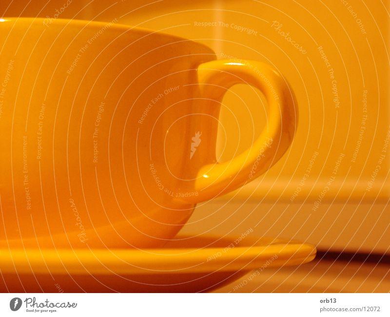 Yellow cup Cup Kitchen Beverage Detail Orange Tea Coffee