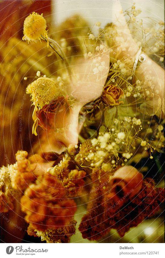 Flower Helen Close-up Emotions Grief Distress flowers sadness Art doubleshoot face Vintage