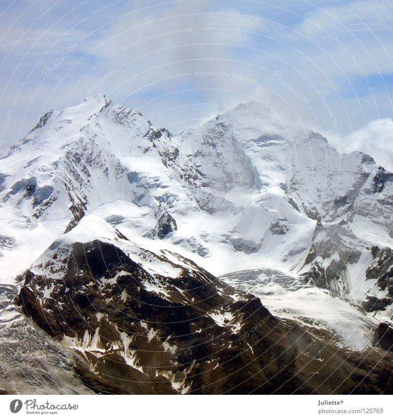 Sky White Blue Clouds Cold Snow Mountain Wind Rock Tall Might Leisure and hobbies Meter Canton Wallis Altimeter