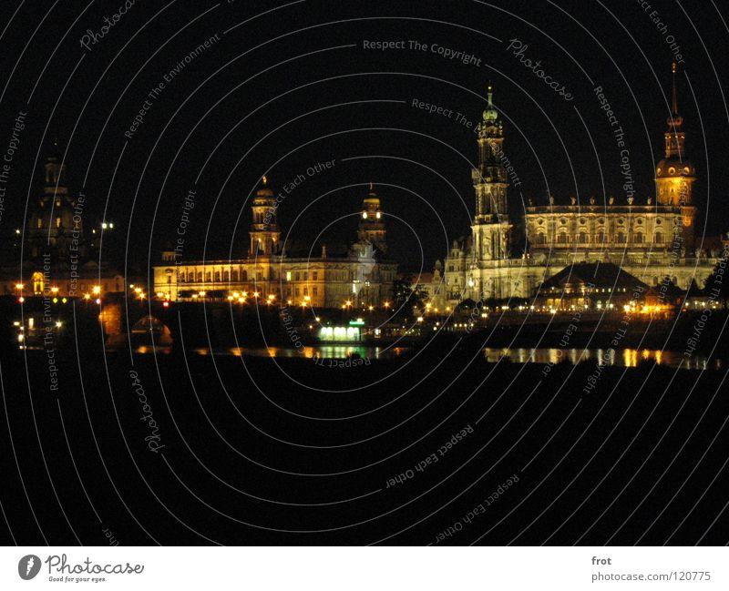 Beautiful City Calm Dark Art Large Dresden Longing Elbe Old town Frauenkirche Hofkirche Brühlsche Terrasse