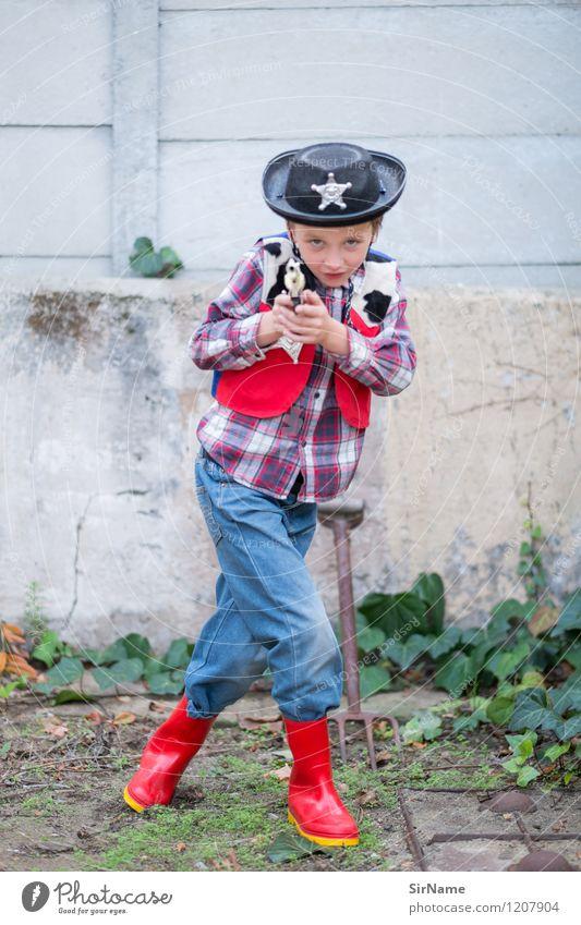 391 [hands up!] Playing Children's game Police Officer Wild West Garden Kindergarten Boy (child) Human being 8 - 13 years Infancy Disguised Wall (barrier)