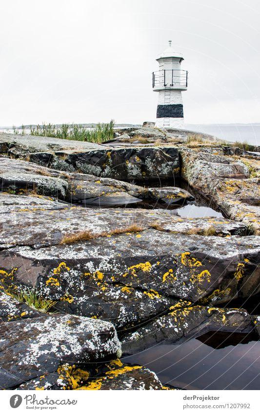 Beacon on Käringön Vacation & Travel Tourism Trip Adventure Environment Nature Landscape Plant Animal Summer Rock Waves Coast Lakeside Fjord Baltic Sea Ocean