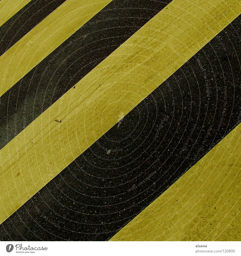 Black Yellow Street Colour Stone Concrete Stripe Traffic infrastructure Warning label Zebra Minerals Across Symbols and metaphors Warning sign Lane markings Length