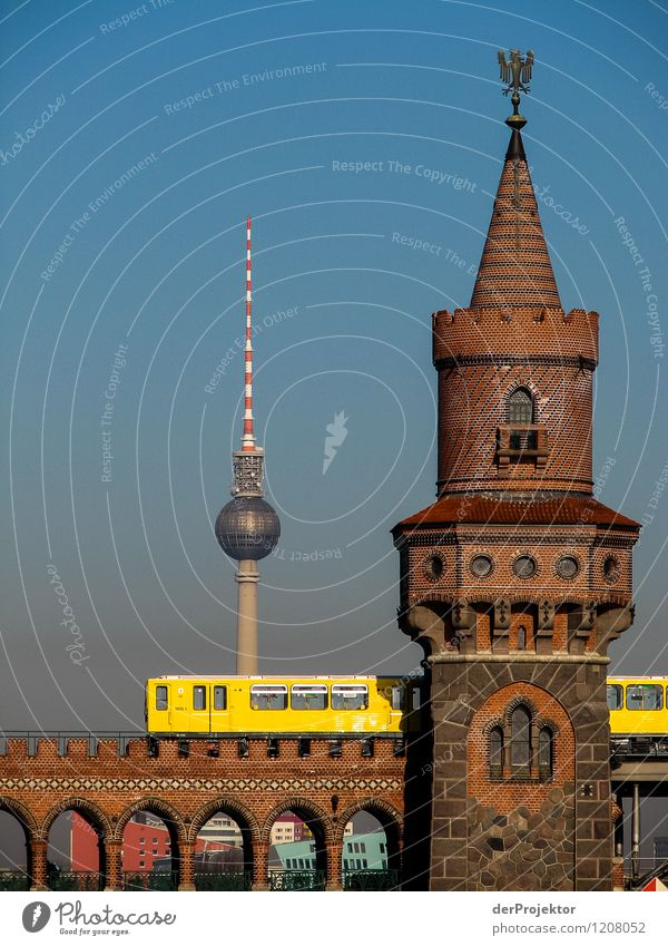 Vacation & Travel City Summer Joy Far-off places Yellow Emotions Berlin Tourism Transport Trip Bridge Adventure Tower Landmark Tourist Attraction