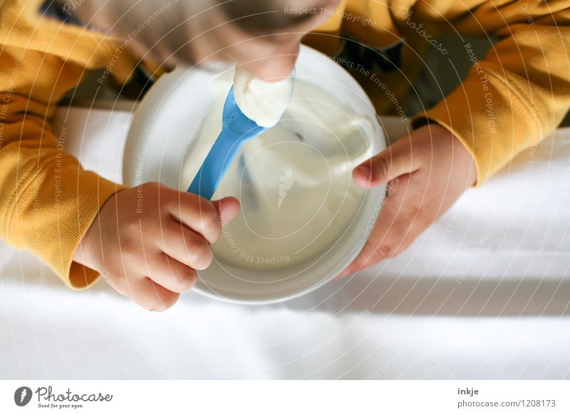 Human being Child Hand Life Emotions Eating Healthy Lifestyle Bright Fresh Infancy Nutrition Appetite Breakfast Toddler Bowl