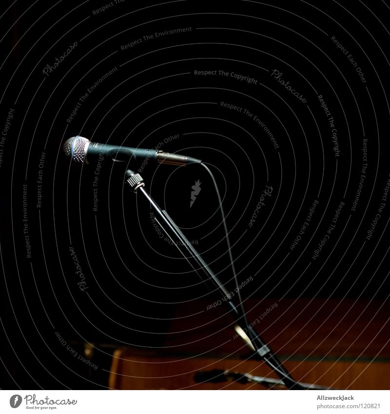 Calm Dark Music Lighting Wait Empty Break Concert Stage Microphone Peaceful Music unplugged