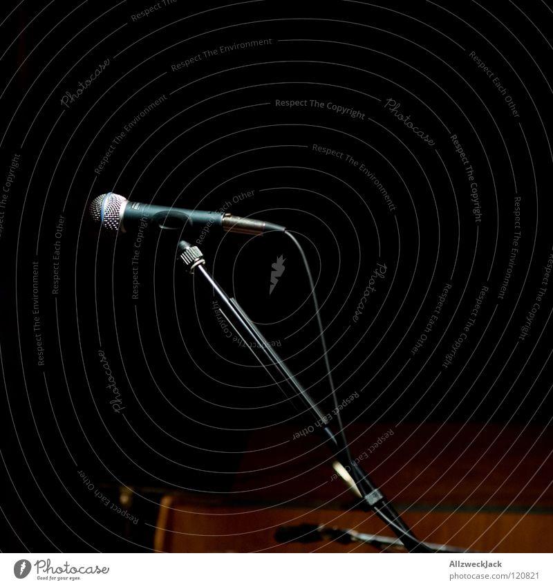 Calm Dark Music Lighting Wait Empty Break Concert Stage Microphone Peaceful Music unplugged