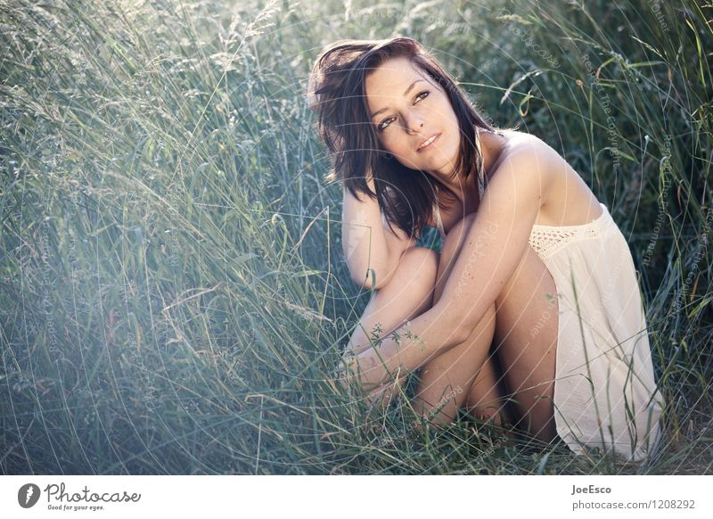Woman Nature Plant Beautiful Summer Relaxation Calm Adults Life Emotions Meadow Grass Natural Garden Dream Contentment