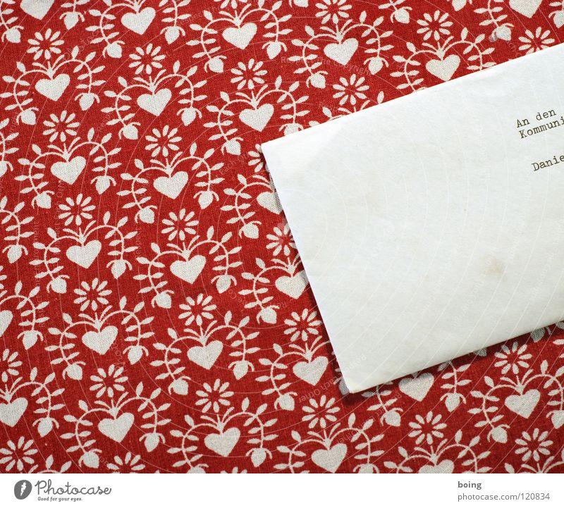 Letter to the Communist Danielovitch Demsky Letter (Mail) Addressee Envelope (Mail) Communism Pattern Tendril Red Typewriter Mailbox SMS Information Invitation