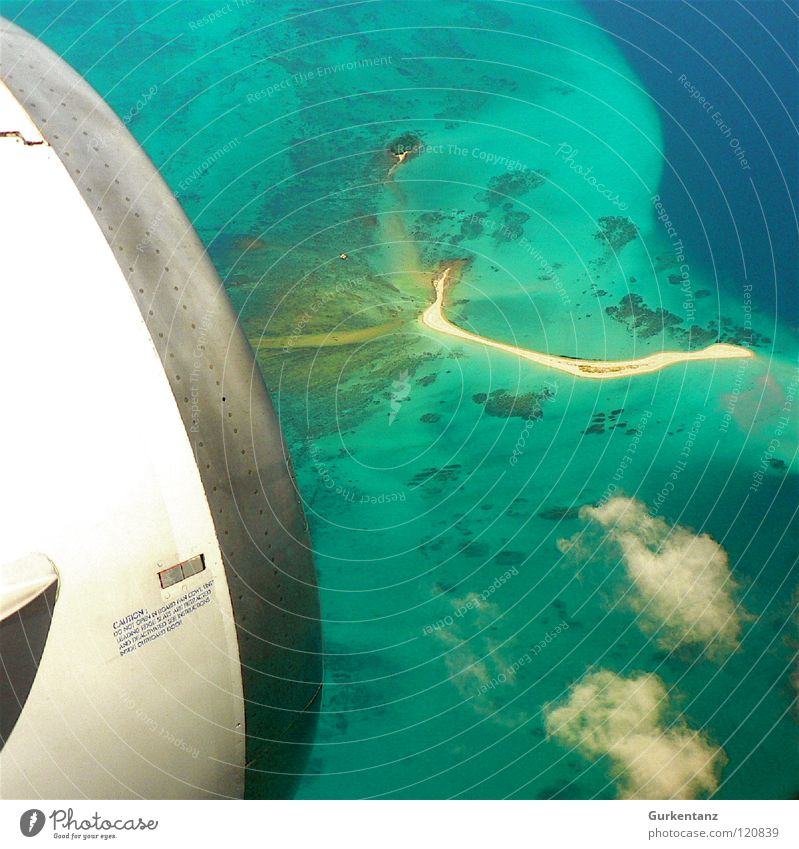 Ocean Beach Sand Coast Airplane Aviation Island Asia Engines Malaya Borneo
