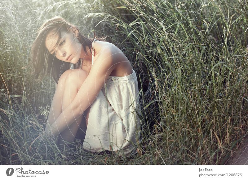 Woman Nature Beautiful Summer Relaxation Calm Adults Life Sadness Meadow Grass Natural Garden Freedom Dream Contentment