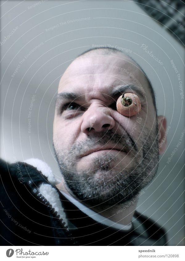 Man Blue White Hand Red Joy Black Face Eyes Head Pink Skin Food Mouth Masculine Nose