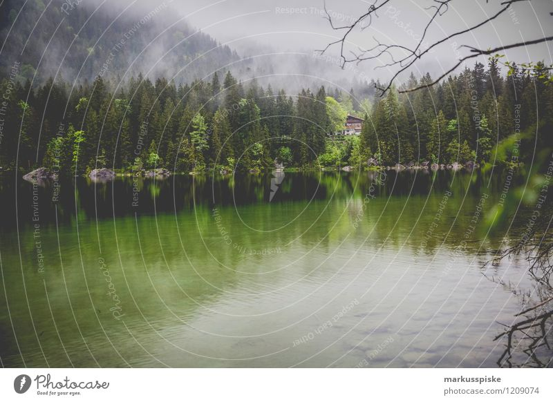 rear lake, ramsau, berchtesgaden Leisure and hobbies Vacation & Travel Tourism Trip Adventure Far-off places Freedom Expedition Camping Summer Summer vacation