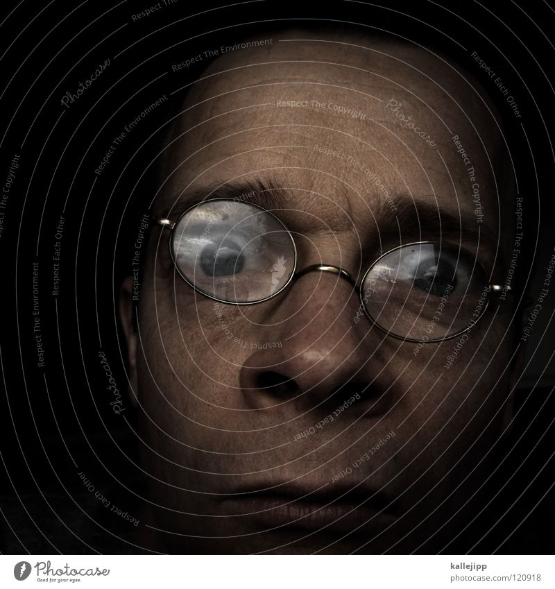 Human being Man Old Joy Face Eyes Hair and hairstyles Head Funny Glass Large Skin Nose Might Eyeglasses Round
