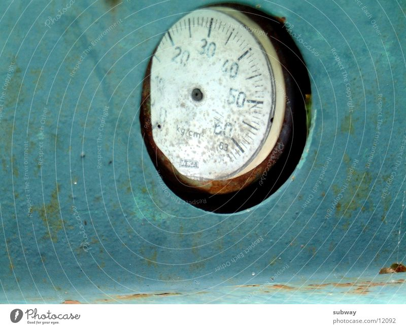 Blue Old Green Metal Clock Technology Rust Display Mining Second-hand Mine Patina Electrical equipment Music