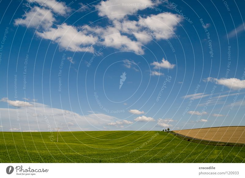 Beautiful Sky White Tree Blue Clouds Street Autumn Lanes & trails Landscape Field Large Driving Hill Agriculture Bavaria
