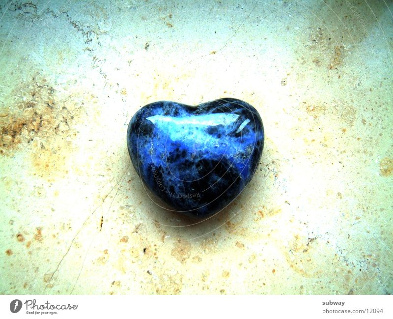 Stone Heart Precious stone Mystic Calm To be silent Eternity Cold Power Emotions Love Lovesickness Emotionally cold Cruel Salutation With love Things jewel Blue