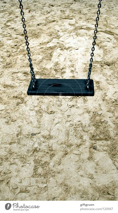 Loneliness Relaxation Playing Sand Infancy Leisure and hobbies Empty Hang Swing Playground Childless Child's arm