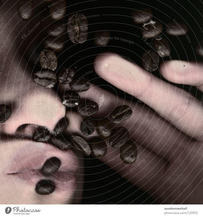 caffeiiiiiiiiiin Caffeine Beans Alert Dependence Hand Fingers Boredom Coffee Nose Mouth Stupid