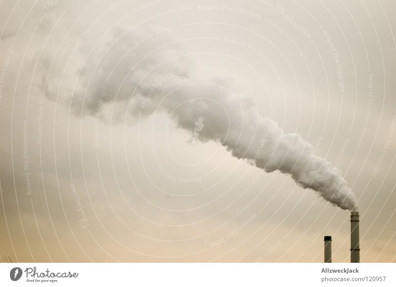 Sky Clouds 2 Dirty Industry Energy industry Climate Smoke Exhaust gas Chimney Share Against Environmental pollution Steam Climate change Carbon dioxide