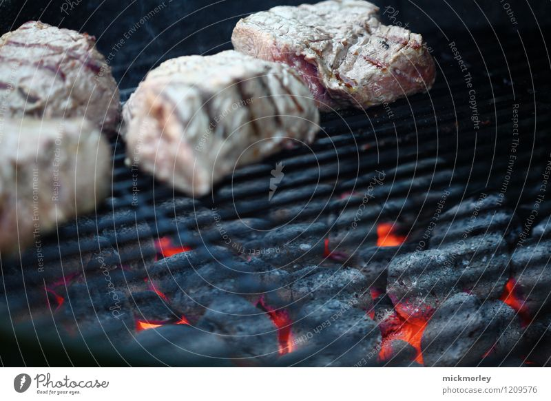 Hot coals under the grate Food Meat Steak Beef Pink Barbecue (event) barbecue Charcoal Coal Embers Grill Delicate incandescently crout Fresh Pork