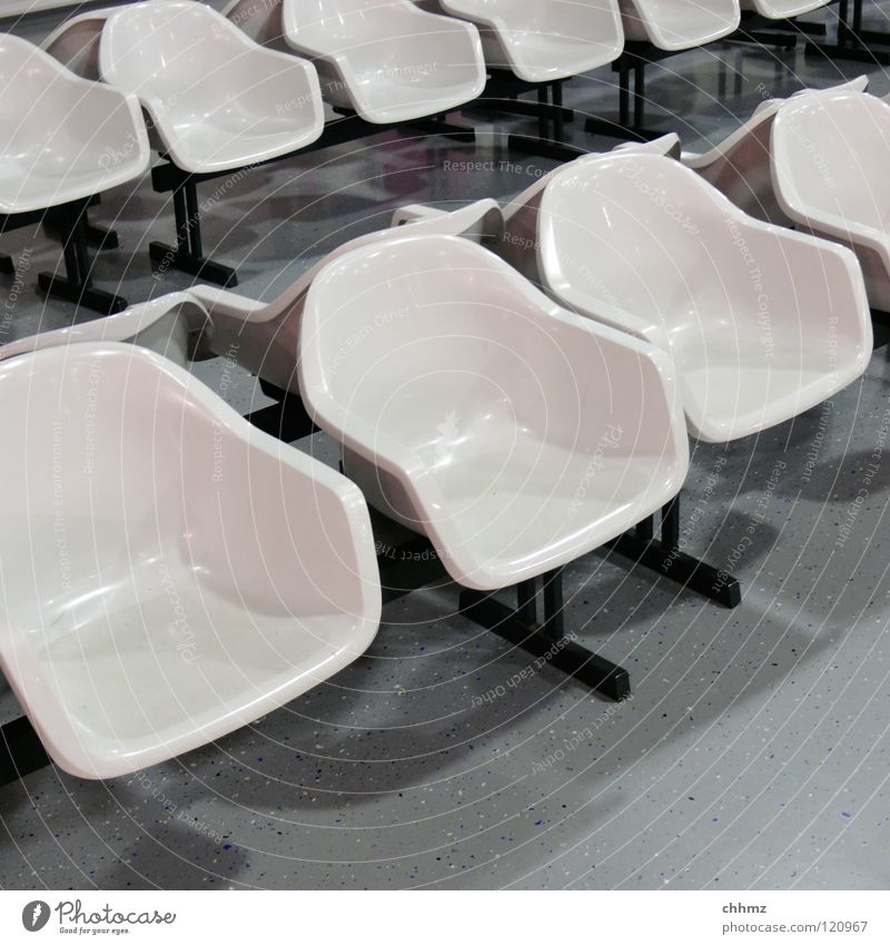 shell Chair White Airfield Comfortable Individual Auditorium Forum Train station Airport Furniture Statue Row Bowl Wait Arrangement Modern Spartan