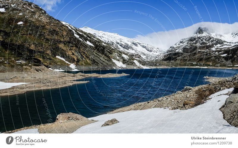 Sky Nature Vacation & Travel Blue Water White Landscape Clouds Cold Mountain Environment Natural Snow Lake Rock Tourism
