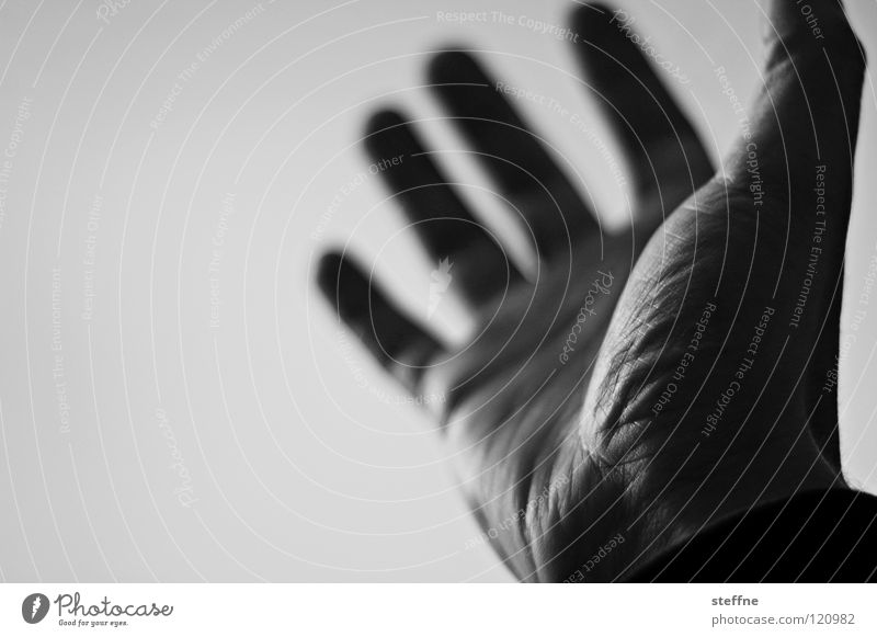 Human being Hand White Black Dark Bright Glittering Fingers Force Communicate Catch Applause Grasp Thumb Pressure