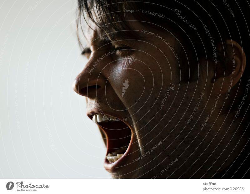 Man Face To talk Head Teeth Scream Fatigue Guy Fellow Snout Wake up Alert Morning Yawn Disturbance