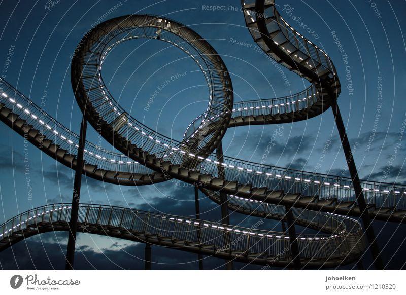 Dizzy Level Novice. Trip Adventure Fairs & Carnivals Roller coaster Art Work of art Sculpture Clouds Night sky Duisburg meadow park The Ruhr