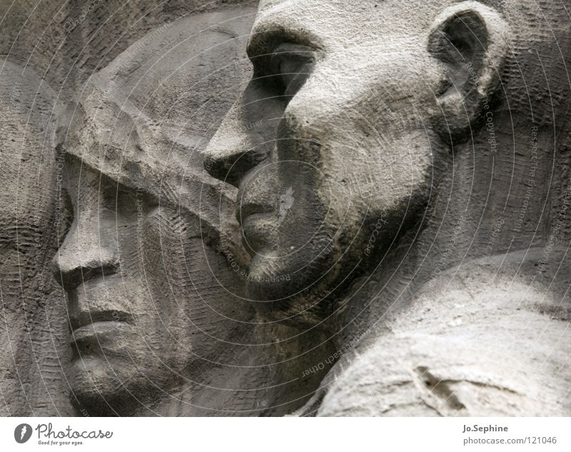 Human being Face Head Stone Germany Grief Past Monument Landmark Distress Memory Berlin Remember Resign Relief