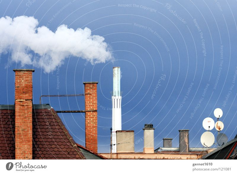 Sky Blue White Red Dark Warmth Energy industry Air Dirty Multiple Wind Tall Industry Roof Clean Smoke