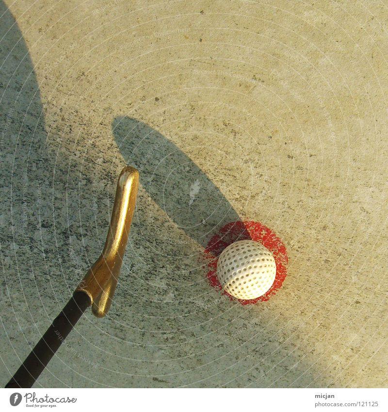 golfomet Golf ball Graphic Red White Brown Golf club Mini golf Cute Summer Tee off Comet Ball Sphere Round Square Dirty Old Family outing Lose Success Loser