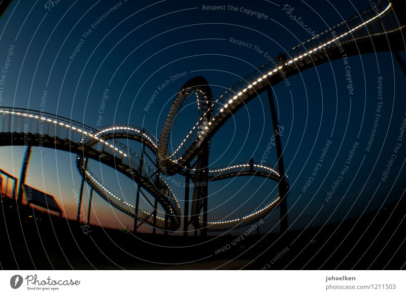 dizzy | Level Experienced Tourism Trip Adventure Fairs & Carnivals Art Work of art Sculpture Duisburg The Ruhr Manmade structures Roller coaster Stairs