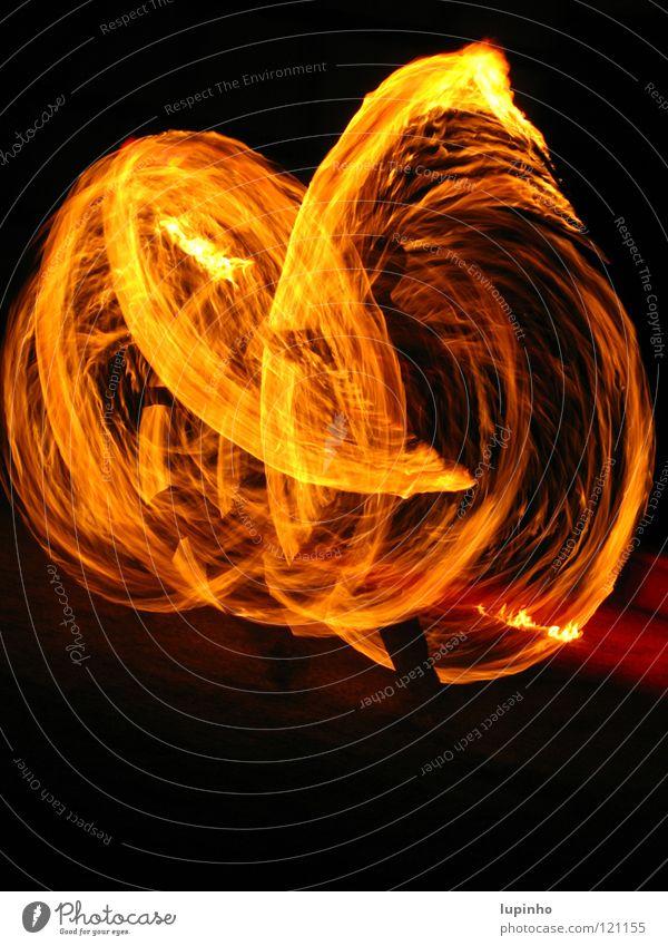 art of fire Hot Fire-eater Brave Speed Night Dark Mysterious Art Magic Fascinating Exterior shot Long exposure Blaze Joy Bright Swirl Creativity Enthusiasm