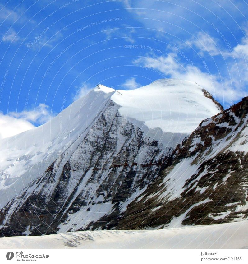 Sky White Clouds Snow Mountain Wind Rock Might Level Switzerland Mountaineering