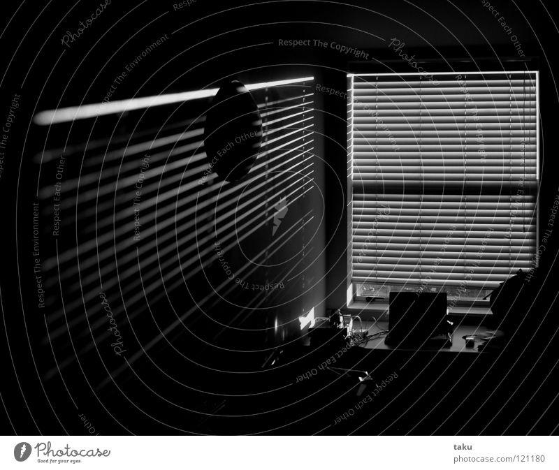 STRIPES I Light Stripe Room Wall (building) Lamp Wake up Black & white photo sun Shadow living space Modern Morning Desk ...