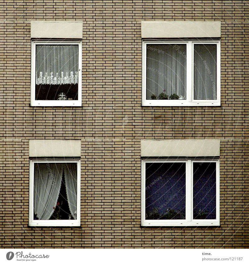 Old House (Residential Structure) Window Wall (barrier) Flat (apartment) High-rise Corner Gloomy Living or residing 4 Square Cute Living room Still Life Drape
