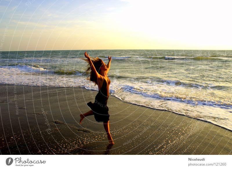 Water Ocean Joy Beach Life Jump Dance Waves Sunset