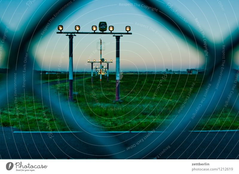 Sky Vacation & Travel Landscape Travel photography Berlin Flying Aviation Speed Airplane Safety Haste Fence Airplane takeoff Departure Airplane landing Airport