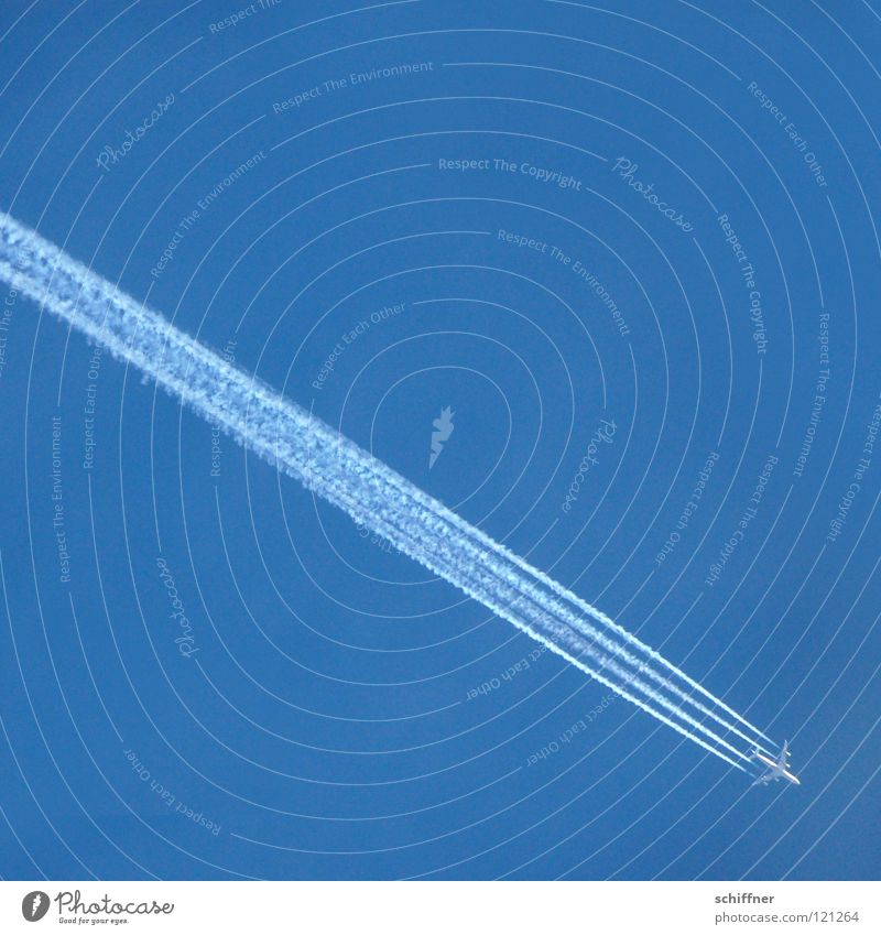 Sky Blue Vacation & Travel Far-off places Airplane Flying Aviation Logistics Tourism Level Diagonal Wanderlust Sky blue Trajectory Altimeter Overflight