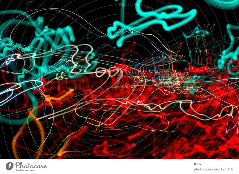 StreetLights Rushing By #2. Long exposure Red White Black Waves Exposure Road traffic Transport Highway Cyan Speed Muddled Traffic light Driving Lamp Flashy